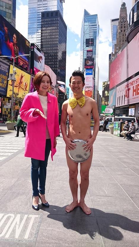 (左から)ベッキー、アキラ100%。(c)関西テレビ