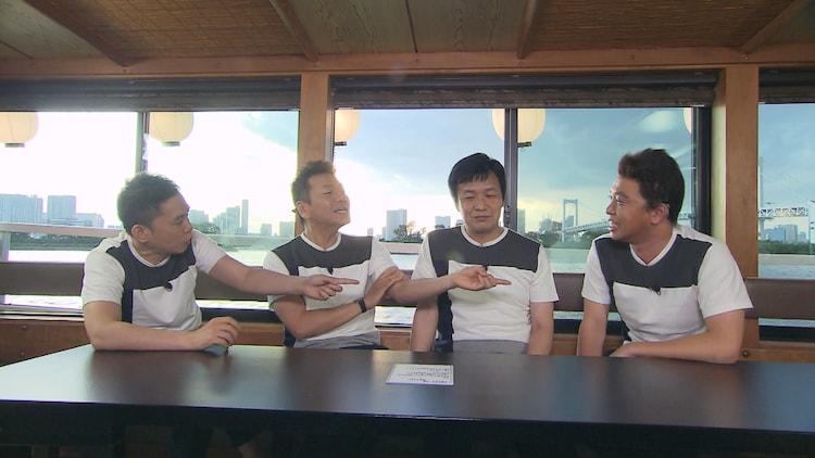 (左から)爆笑問題・太田、くりぃむしちゅー上田、ガリベンズ矢野、ホリ。(c)中京テレビ
