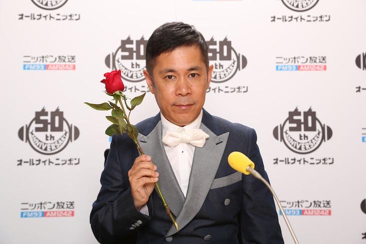 「ナインティナイン岡村隆史のオールナイトニッポン」に出演している、ナインティナイン岡村。