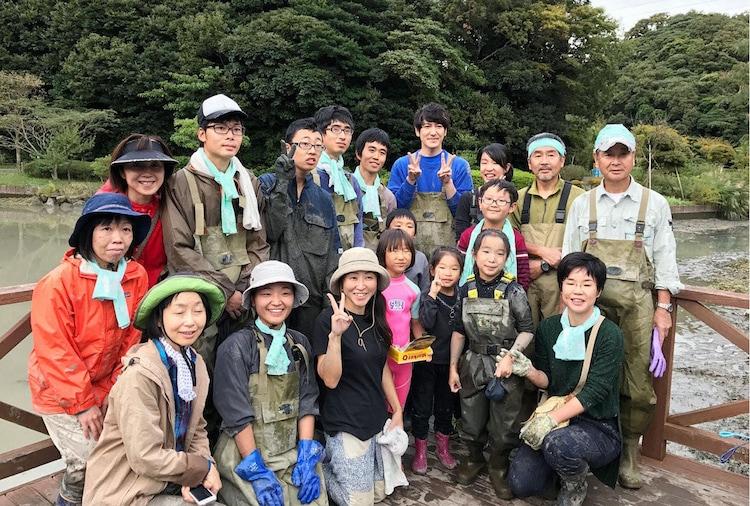 ココリコ田中が訪れた水辺公園にて。(c)テレビ東京
