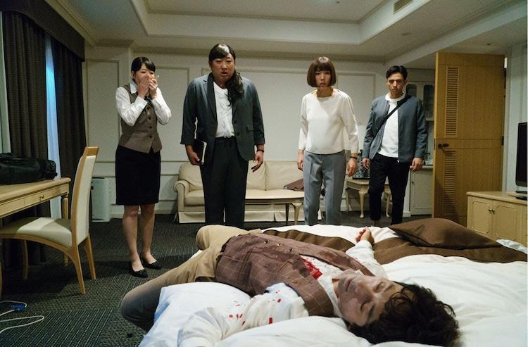 ドラマ「黒い十人の秋山」のワンシーン。