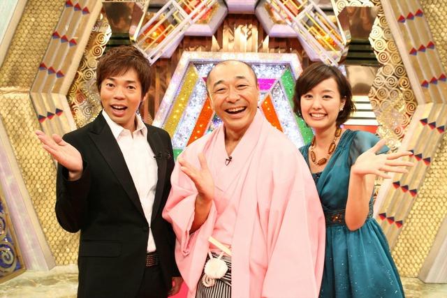 「新春レッドカーペット」MC陣の(左から)今田耕司、高橋克実、中村仁美。写真は2007年撮影のもの。(c)フジテレビ