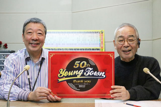 左から笑福亭鶴光、角淳一。(c)MBSラジオ