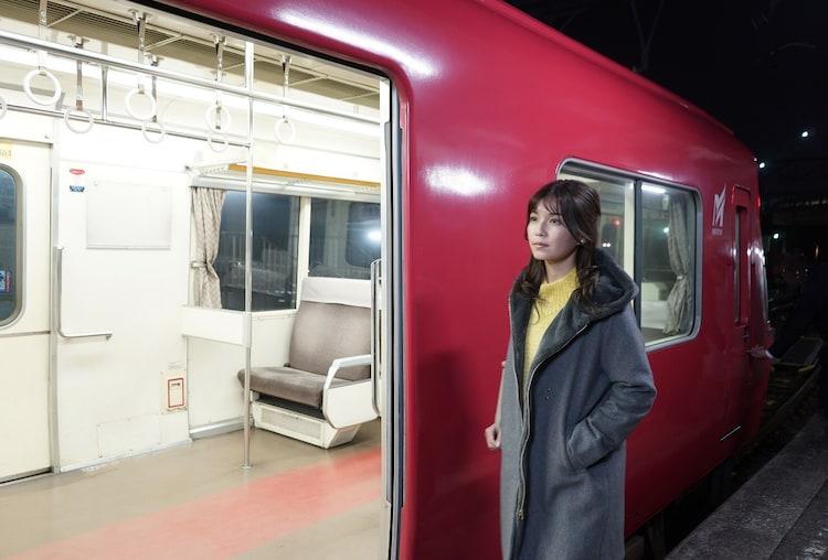 「名古屋行き最終列車2018」のワンシーン。宇野実彩子。(c)メ~テレ