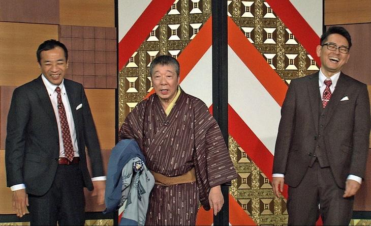 「お笑い演芸館スペシャル」に出演する、ナイツと笑福亭鶴光(中央)。(c)BS朝日