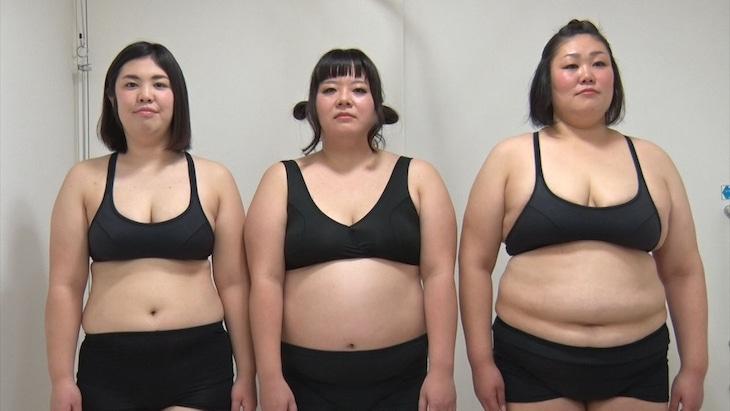 ダイエット企画に挑戦する(左から)紅しょうが・熊元プロレス、堀川絵美、ぢゃいこ。(c)MBS