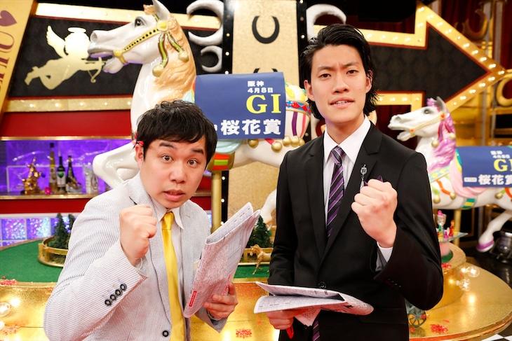 「うまンchu」の準レギュラーとなった霜降り明星。(c)関西テレビ