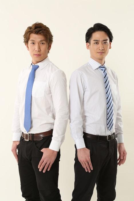 ブリリアン。左から徳田浩至(コージ)、杉浦大毅(ダイキ)。