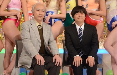 東京03角田(左)とバカリズム(右)。
