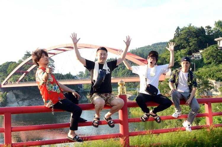 左からニブンノゴ!大川、ギンナナ金成、ニブンノゴ!森本、ニブンノゴ!宮地。