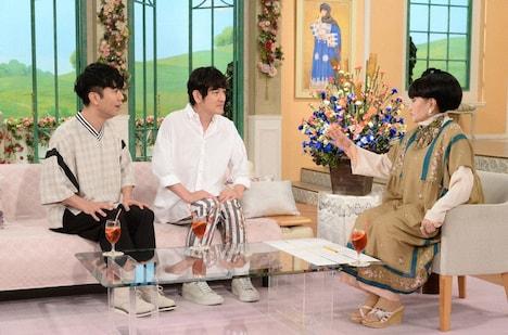 (左から)藤井隆、ココリコ田中、黒柳徹子。(c)テレビ朝日