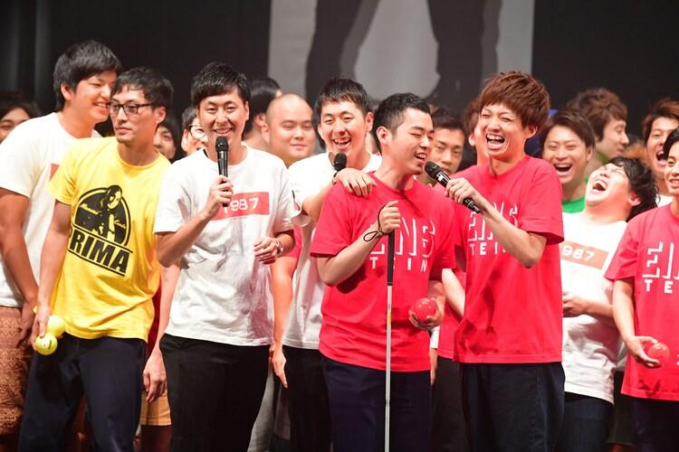 2500人を前にした感想を聞かれる濱田祐太郎。
