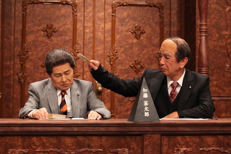 (左から)加藤茶、志村けん。(c)フジテレビ