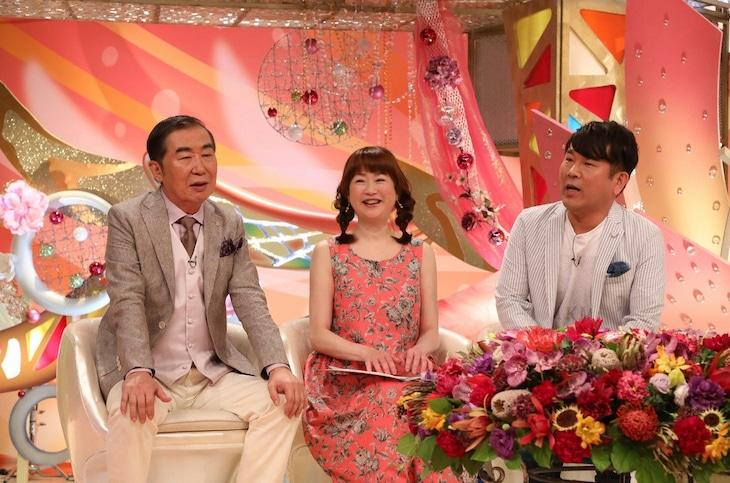 「新婚さんいらっしゃい!」SPに出演する(左から)桂文枝、山瀬まみ、FUJIWARA藤本。(c)ABC