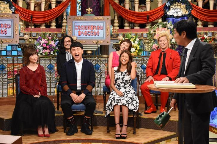 「踊る踊る!さんま御殿!!超話題バカ売れ芸能人 秋のグルメ大豊作祭り」のワンシーン。(c)日本テレビ
