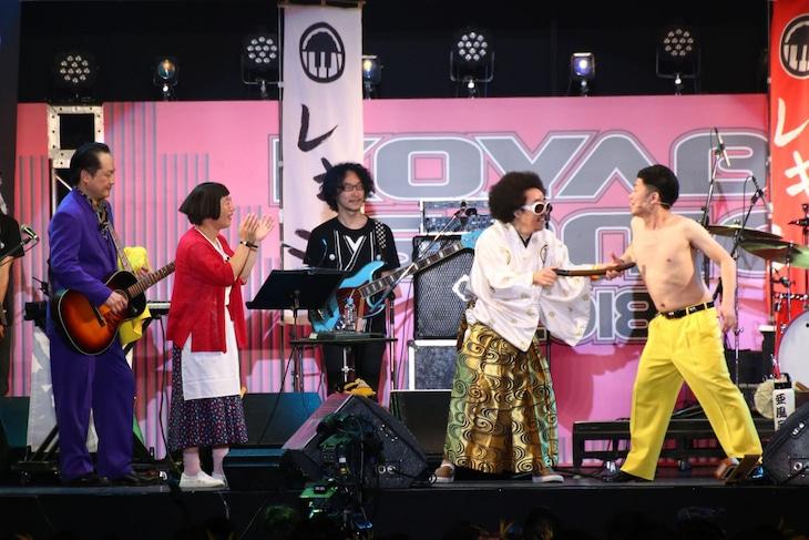 吉田裕との乳首ドリルに挑戦するレキシ。