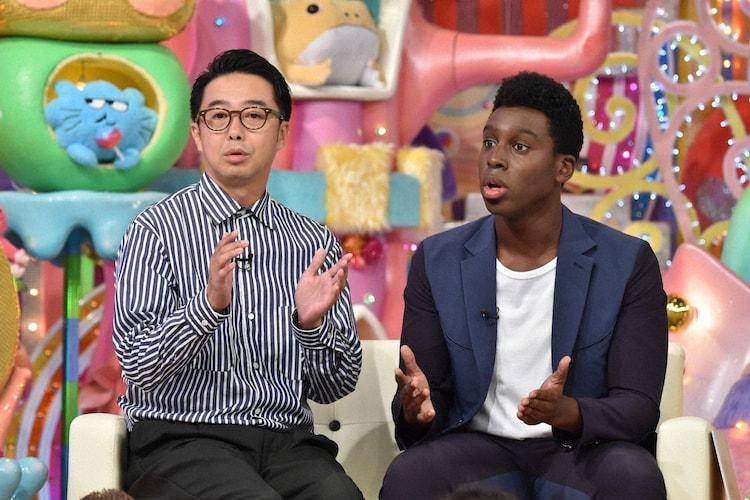 (左から)おぎやはぎ矢作、超新塾アイクぬわら。(c)テレビ朝日