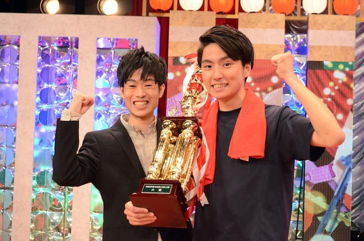 「平成30年度 NHK新人お笑い大賞」大賞を受賞したGパンパンダ。