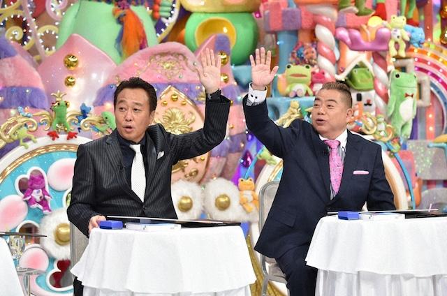 (左から)さまぁ~ず三村、出川哲朗。(c)テレビ朝日
