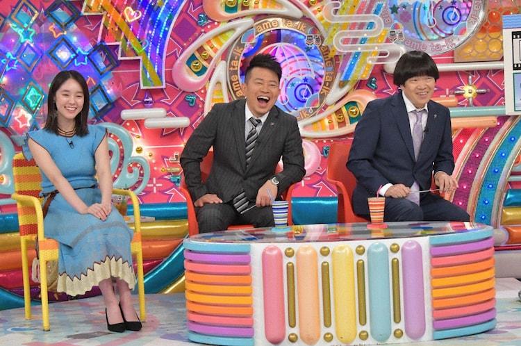 雨上がり決死隊とゲストの唐田えりか(左)。(c)テレビ朝日