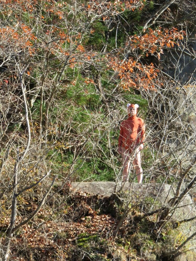「オレ流あるある 秋季キャンプin会津」にかわうそ君の姿が。