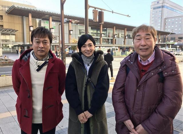 太川陽介、遠藤久美子、蛭子能収(左から)。(c)テレビ東京