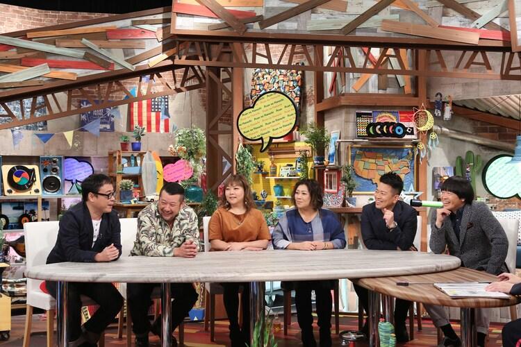(左から)バッファロー吾郎A、ケンドーコバヤシ、海原やすよ ともこ、雨上がり決死隊。(c)ABC