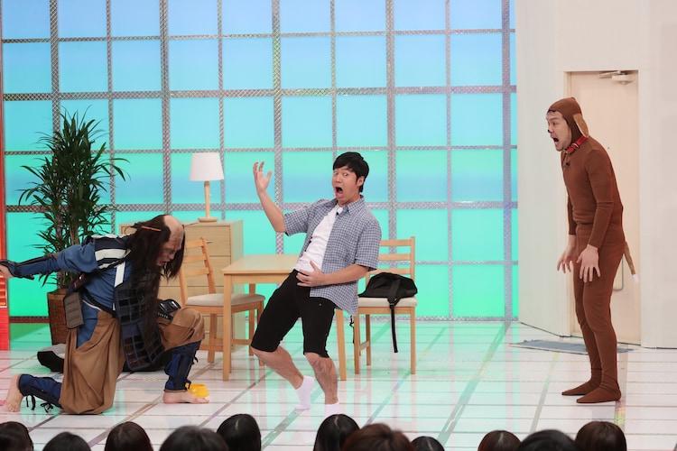 (左から)古坂大魔王、東貴博、土田晃之。(c)テレビ朝日