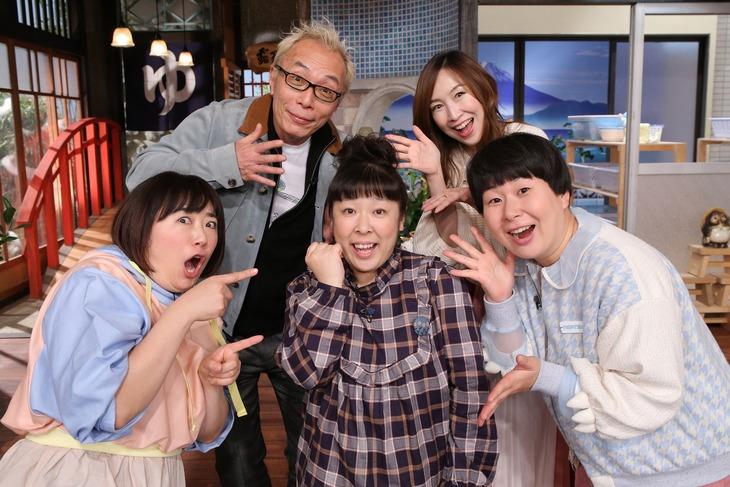 「はじめてのおつかい!爆笑!2019年大冒険スペシャル」に出演する所ジョージ、森口博子、森三中。