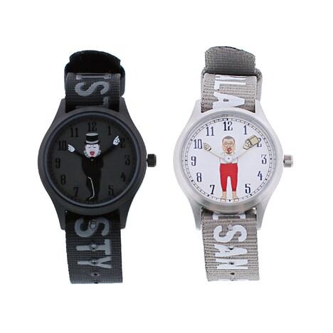 TiCTACと野性爆弾くっきーのコラボ腕時計。