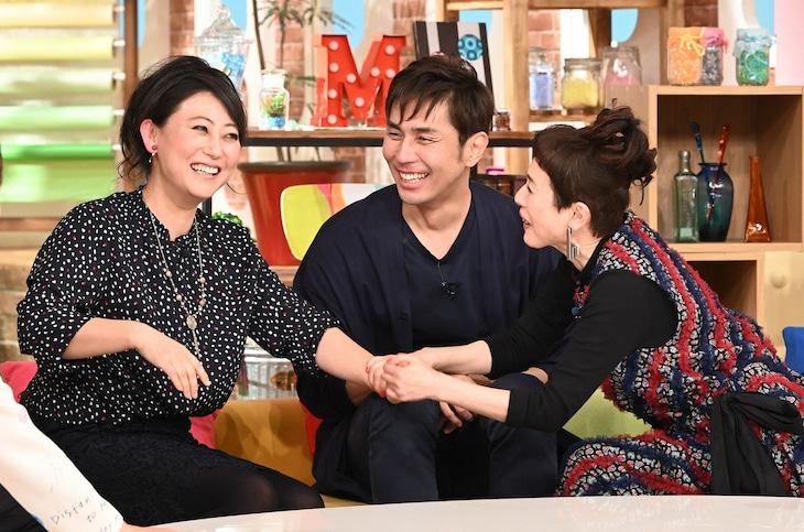 左から友近、袴田吉彦、久本雅美。(c)日本テレビ