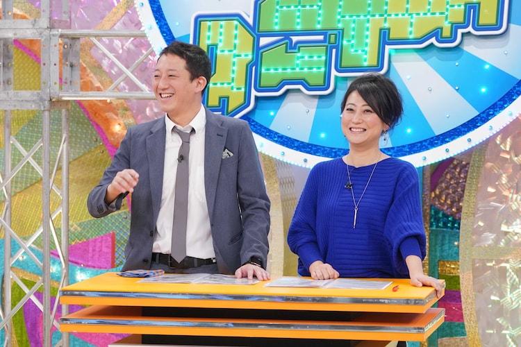 MCの(左から)サバンナ高橋、友近。(c)関西テレビ