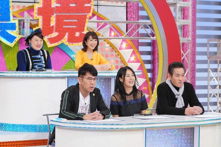 「明日またげる県境バラエティ ハザマのドラマ」のパネラーたち。(c)関西テレビ