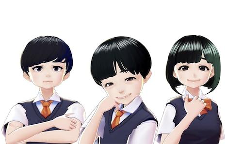 アバターになった(左から)小出祐介、バカリズム、夢眠ねむ。(c)日本テレビ