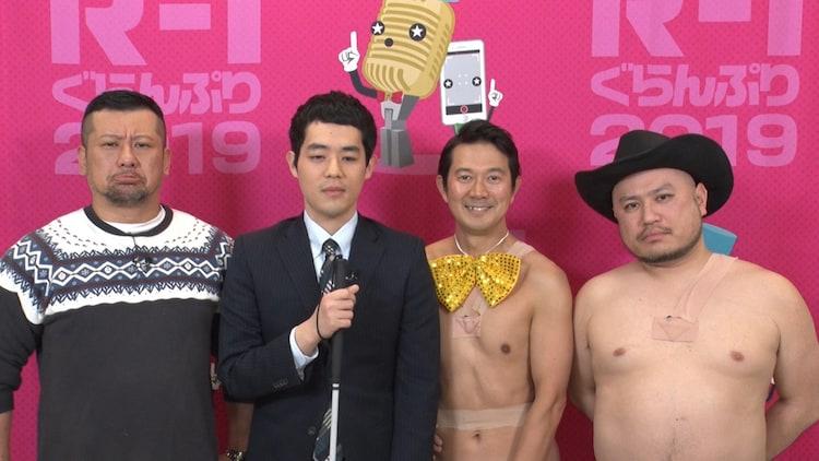 左からケンドーコバヤシ、濱田祐太郎、アキラ100%、ハリウッドザコシショウ。