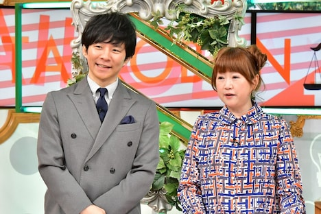 番組MCの(左から)アンジャッシュ渡部と山瀬まみ。(c)TBS