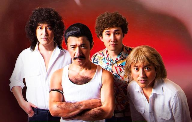 3月21日放送回でクイーンに扮する(左から)ココリコ田中、内村光良、シソンヌじろう、ムロツヨシ。(c)NHK