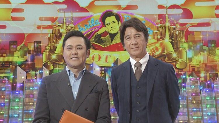 有田P(左)とゲストの草刈正雄(右)。(c)NHK