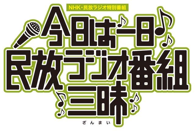 """「今日は一日""""民放ラジオ番組""""三昧~#このラジオがヤバい~」ロゴ"""