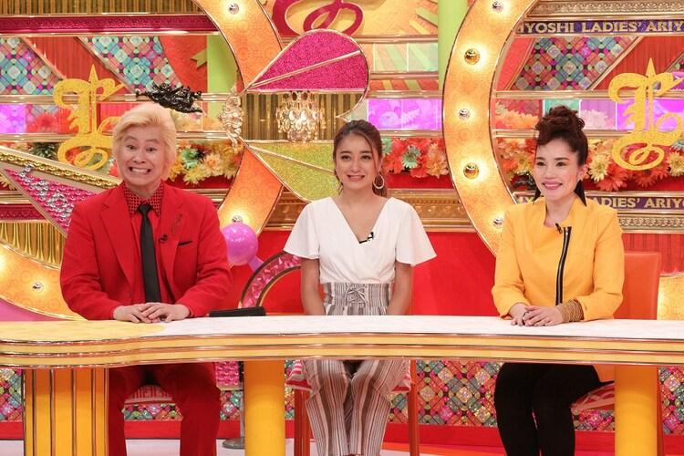(左から)メイプル超合金カズレーザー、池田美優、平野ノラ。(c)関西テレビ