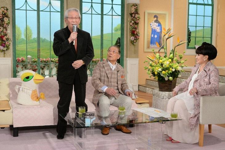 「徹子の部屋」に出演する(左から)小松政夫、伊東四朗、黒柳徹子。(c)テレビ朝日