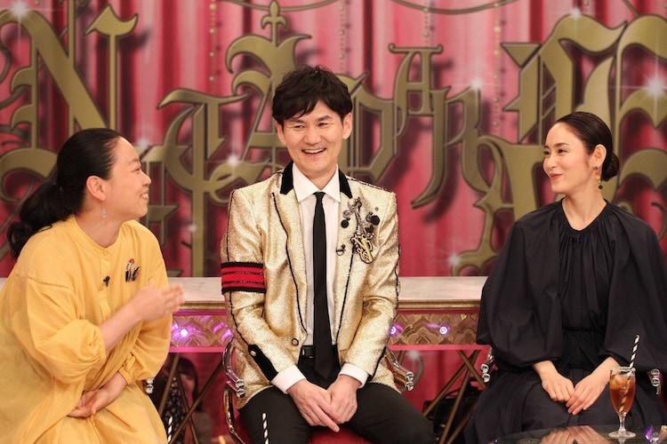 (左から)いとうあさこ、南原清隆、山口紗弥加。(c)フジテレビ
