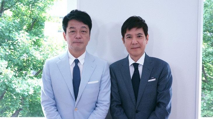 「ザ・インタビュー ~トップランナーの肖像~」に出演する(左から)舘野晴彦氏、関根勤。(c)BS朝日