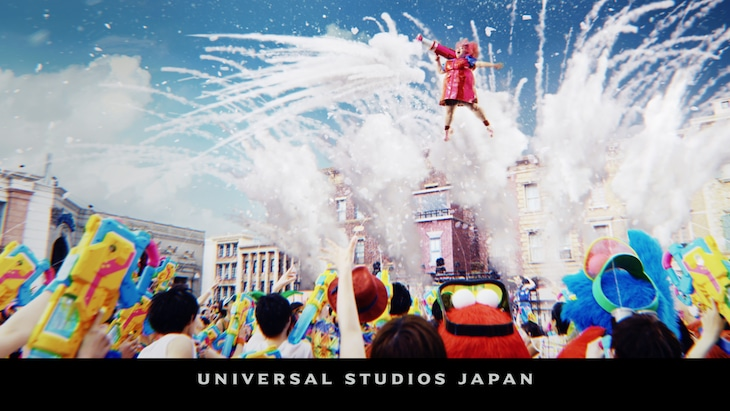 渡辺直美が出演する、ユニバーサル・スタジオ・ジャパン「エクストラ・クール・サマー」のCMイメージ。
