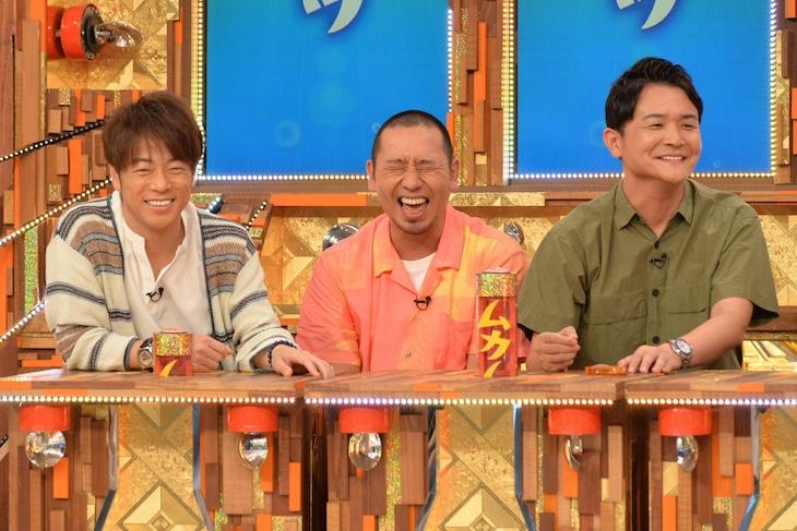 「痛快TV スカッとジャパン」に出演する(左から)陣内智則、千鳥。(c)フジテレビ