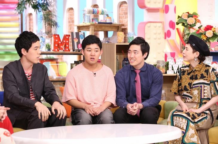左から四千頭身、久本雅美。(c)日本テレビ