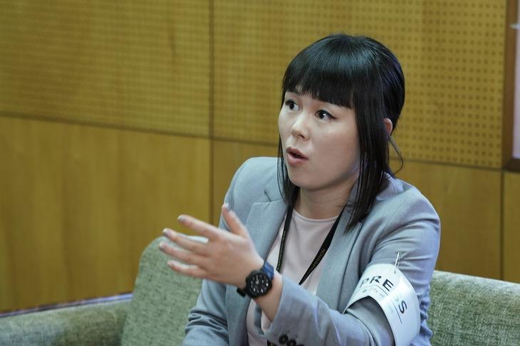 ブルゾンちえみ演じる仁科雅美。(c)2019映画「蜜蜂と遠雷」製作委員会
