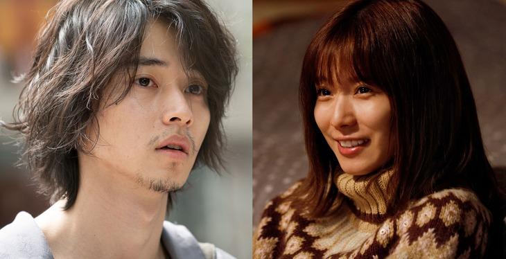 映画「劇場」より、山崎賢人演じる永田(左)と松岡茉優演じる沙希(右)。