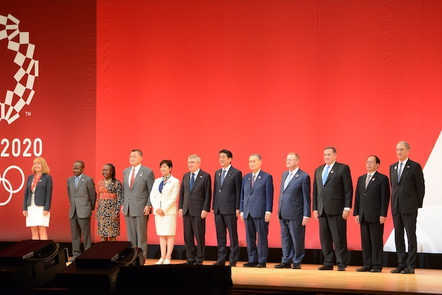 「東京2020オリンピック1年前セレモニ-」の様子。