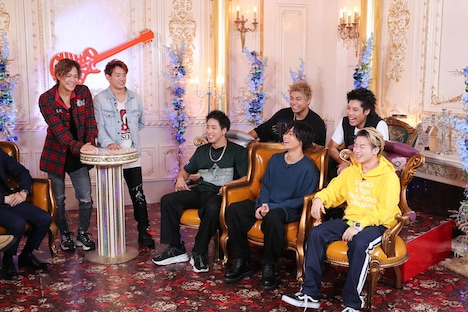 THE RAMPAGEが出演する「ギュッとミュージック」7月28日放送回のワンシーン。